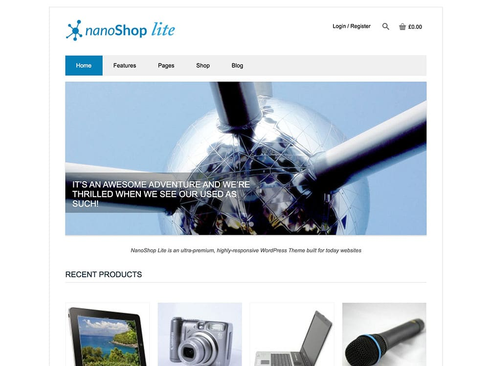 NanoShop Lite theme
