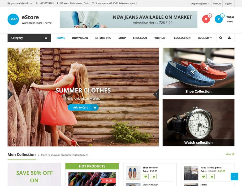 estore woocommerce wordpress