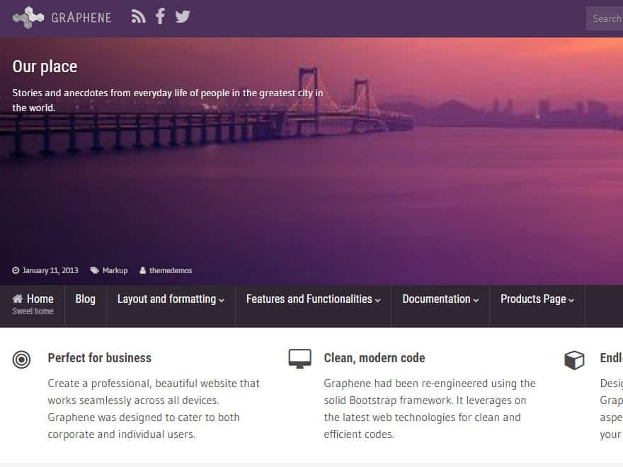 graphene theme adsense