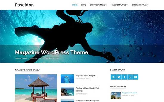 poseidon theme blog