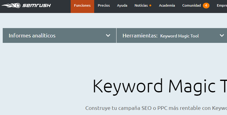 analisis magico semrush