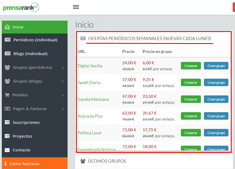 ofertas backlinks